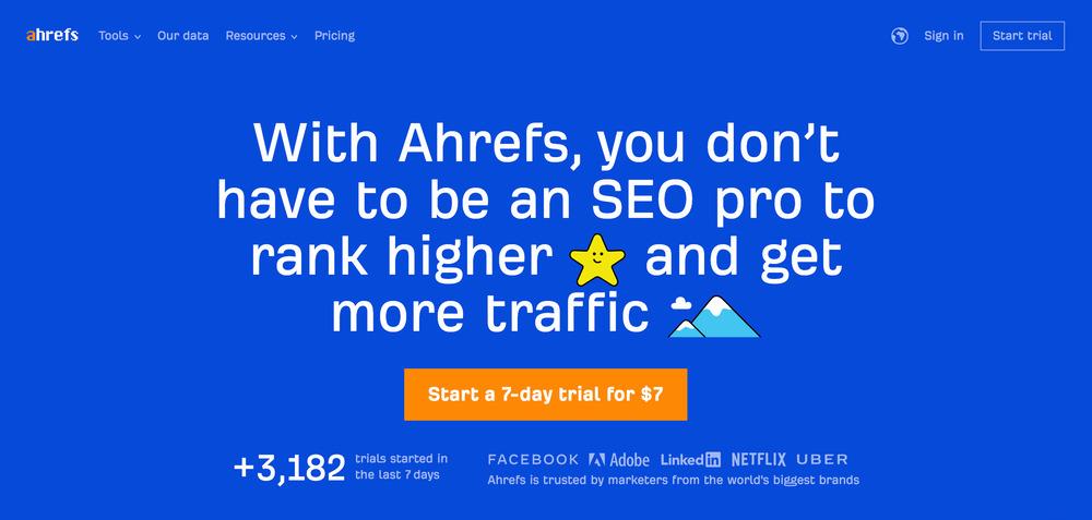 ahrefs - startup tools