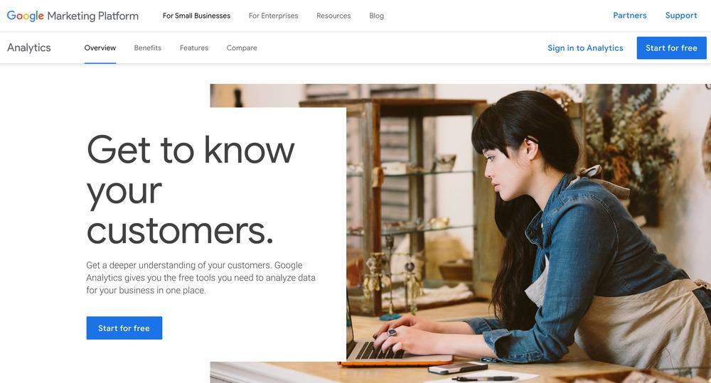 google analytics - startup tools