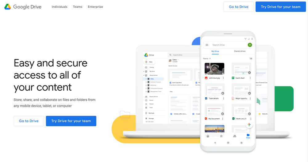 google drive - startup tools