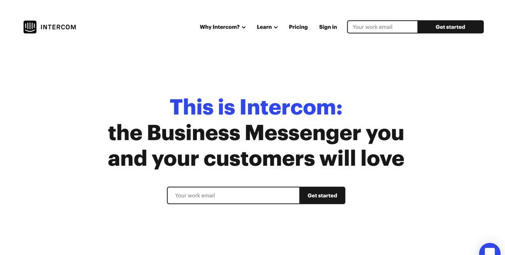 intercom - startup tools