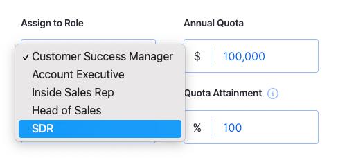 choose sales role