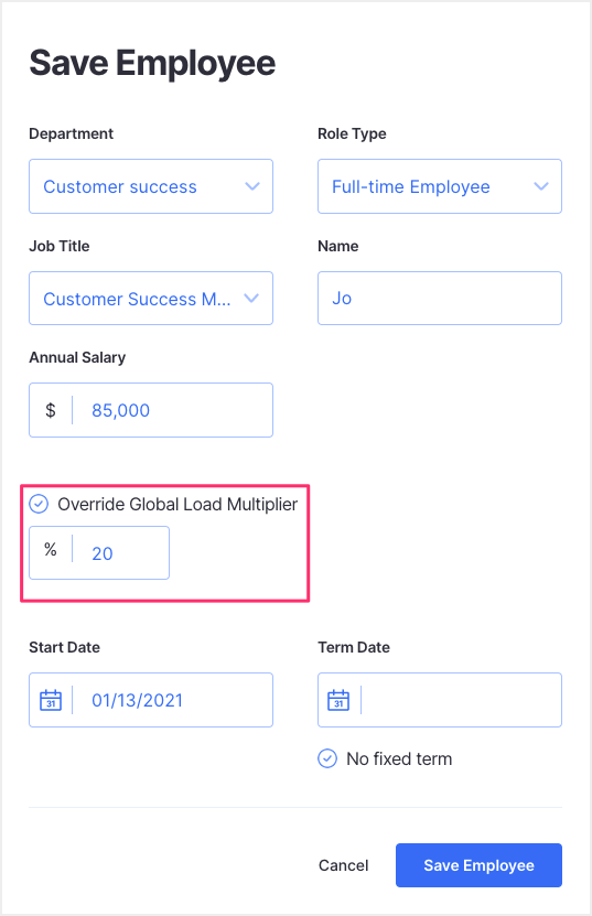 load multiplier - financial planning