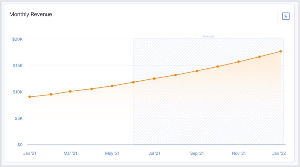 12 month revenue forecast total