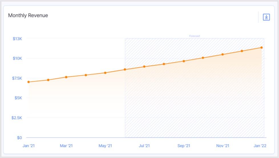 12 month revenue forecast