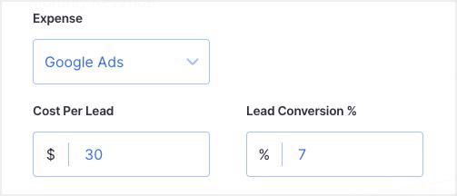 lead assumptions - average scenario