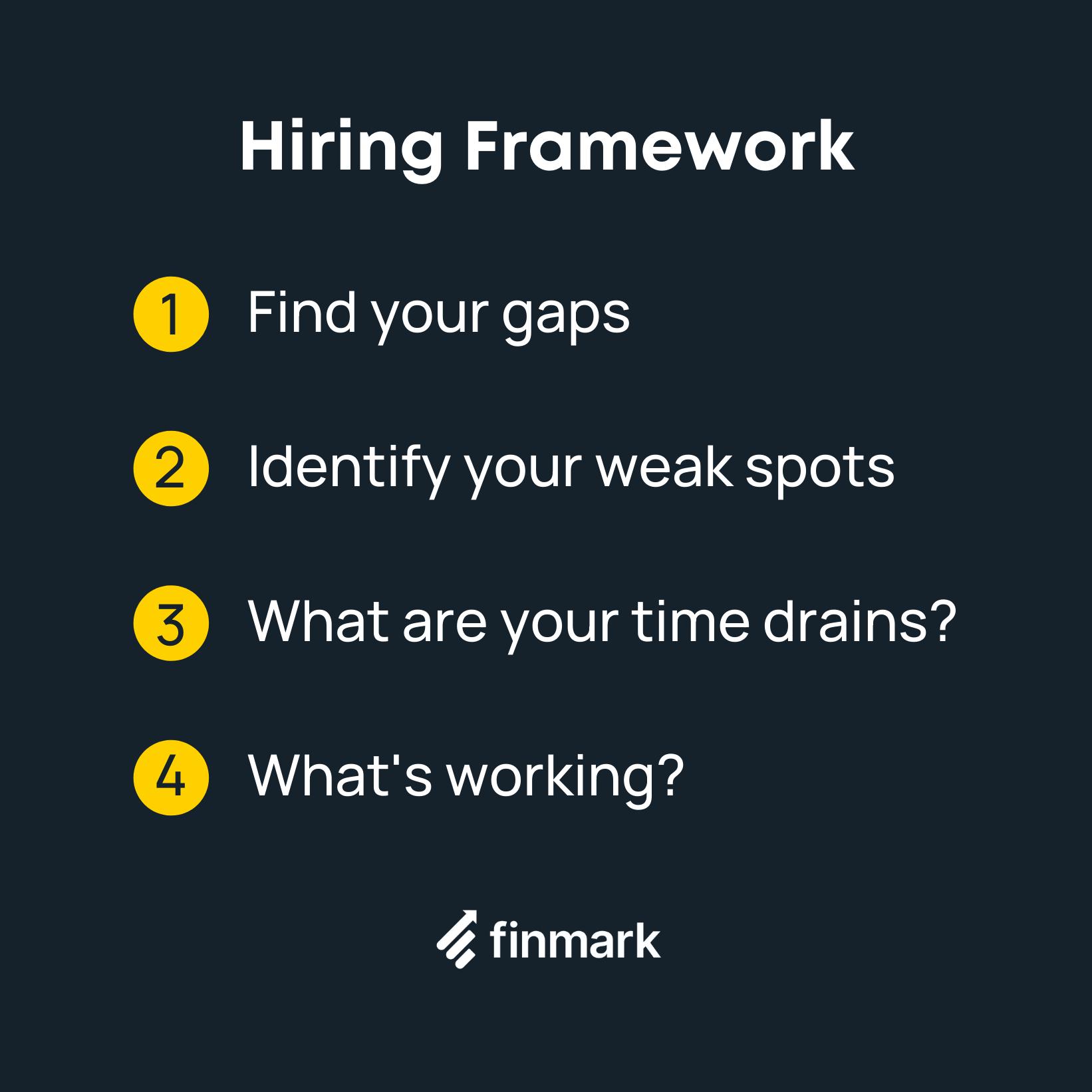 first employee hiring framework
