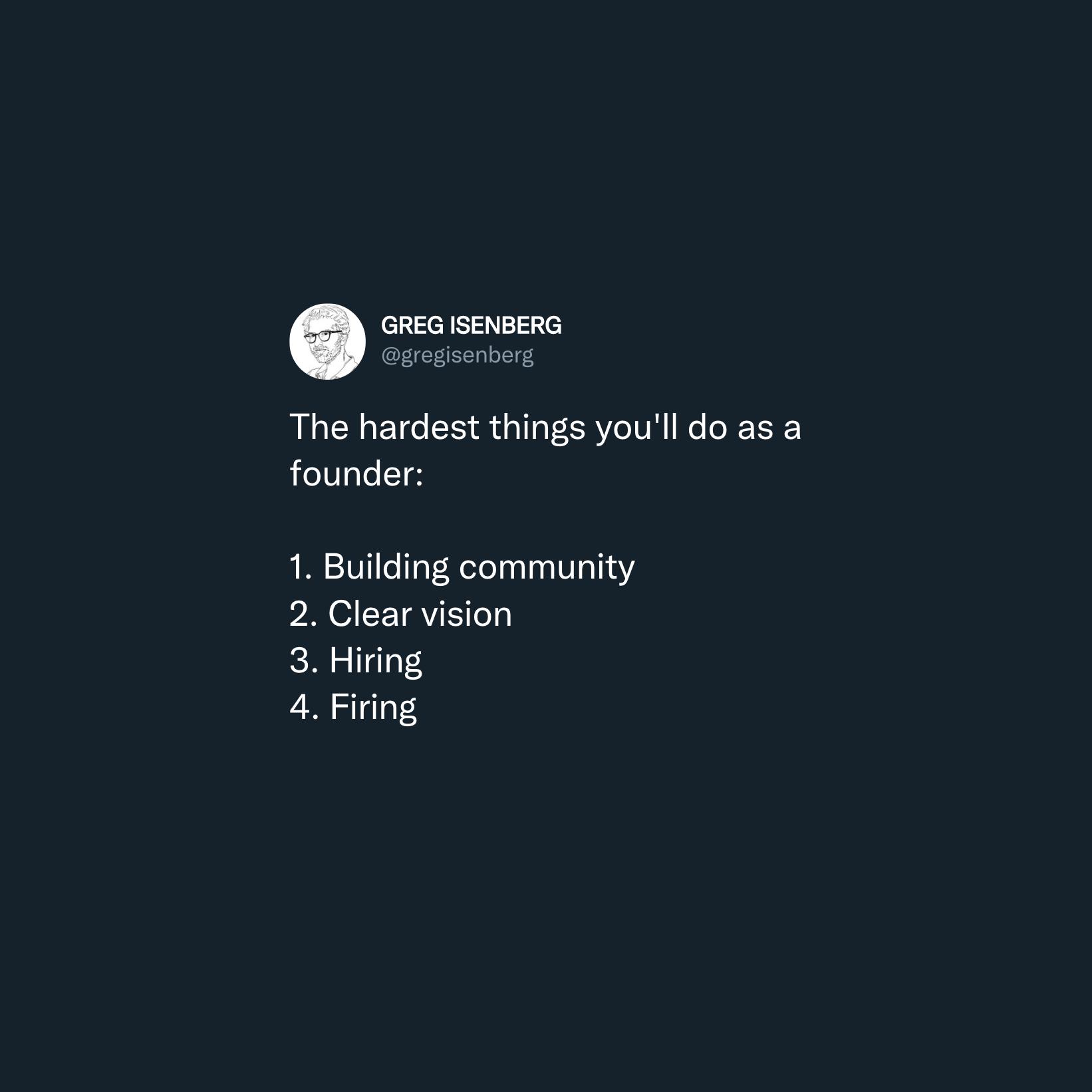 hiring first employees tweet